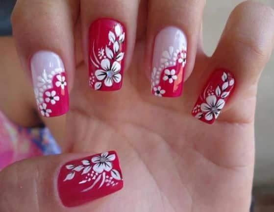 75 Diseños De Uñas Decoración De Uñas Decoradas Con Flores