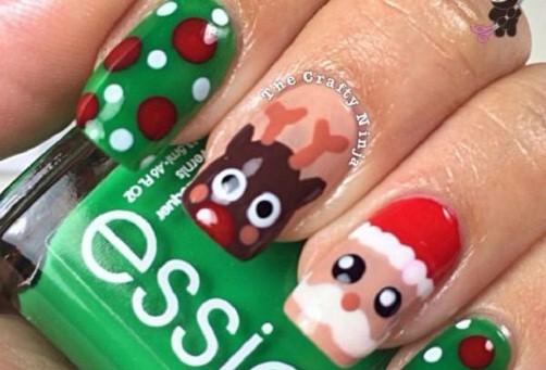 unas-decoradas-navidenas