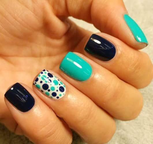 nail art verde y negro