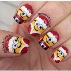 unas-decoradas-navidad-minions