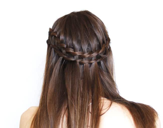 Como hacer trenza cascada en pelo corto