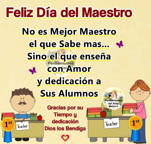 Envía Imágenes De Feliz Día Del Maestro En Frases Y Mensajes