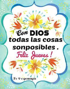 feliz jueves dios te ama