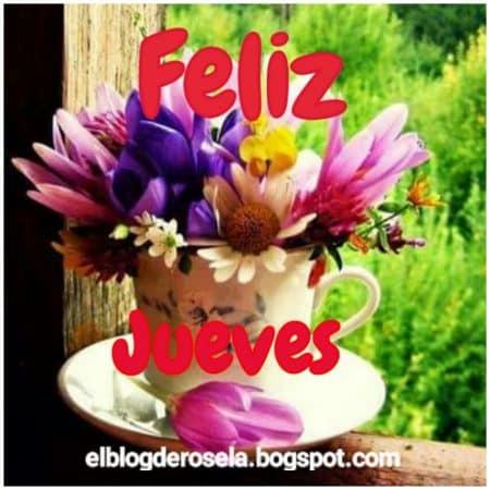 feliz jueves flores