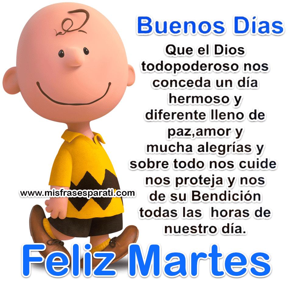 Buenos Das feliz martes y todas las bendiciones para ti y tu familia