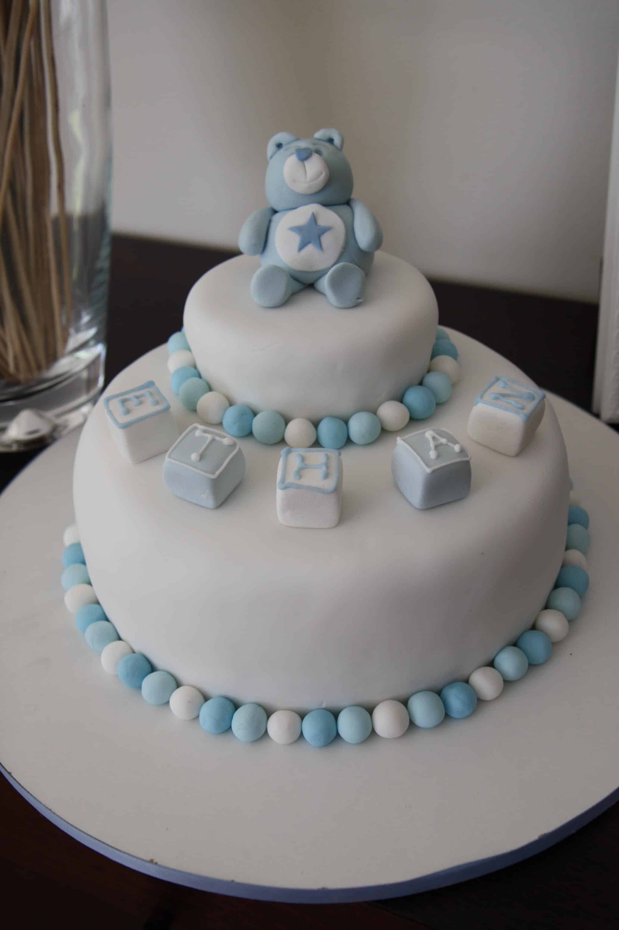 decorar tortas de bautismo