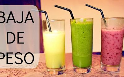 bajar de peso con bebidas naturales