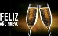 feliz año nuevo copas brindando