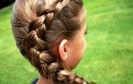 peinado recogido con trenza de costado