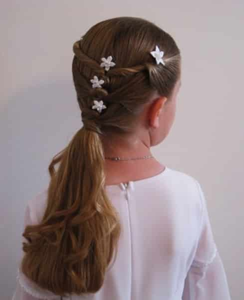 Peinados de cabello recogido para ninas