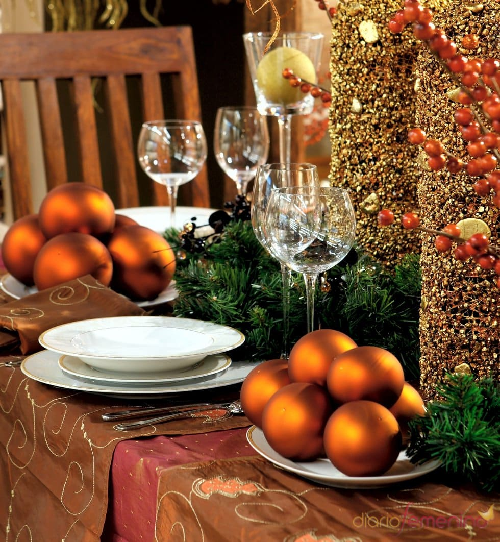 Christmas Decorations With Orange: 32 Ideas De Mesas Navideñas Para Decorar En Navidad
