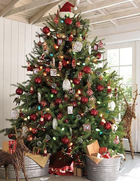 Decorar Arbol Navidad En Papel.32 Adornos Y Tendencias De Arbol De Navidad Para Decorar