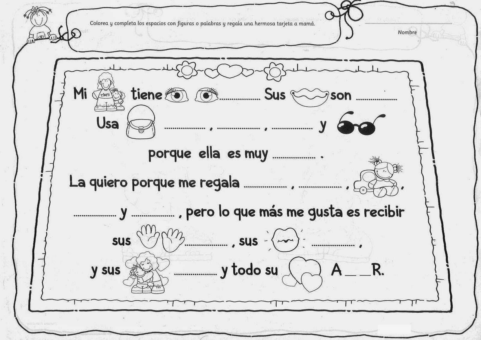 Fantástico Amo La Abuela Para Colorear Elaboración - Dibujos Para ...