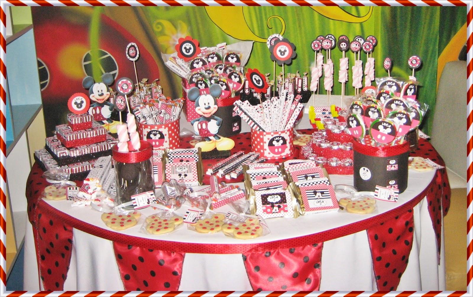 26 ideas muy faciles para armar tu mesa dulce de mickey - Ideas fiestas tematicas ...