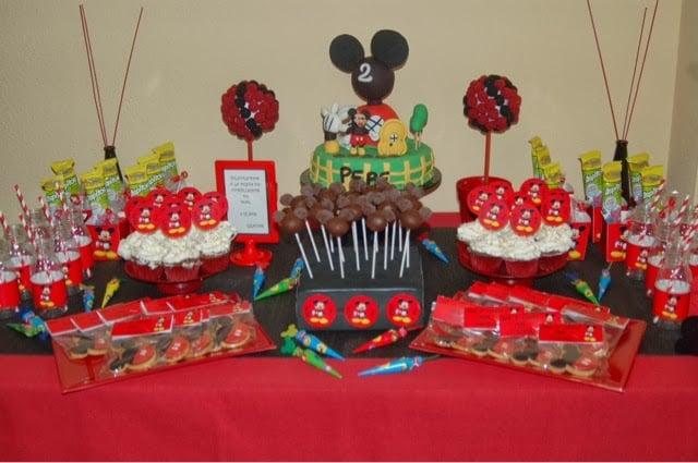 Mickey Mouse Decoracion Mesa ~   de mesas de cumplea?os Como hacer una mesa dulce de mickey mouse