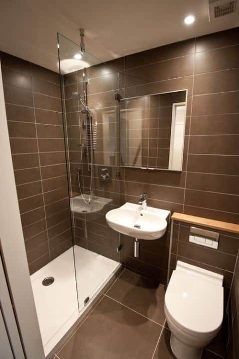 Cheap bathroom suites uk - Como Decorar Un Ba 241 O Peque 241 O Con Estilo Moderno Mujeres Femeninas