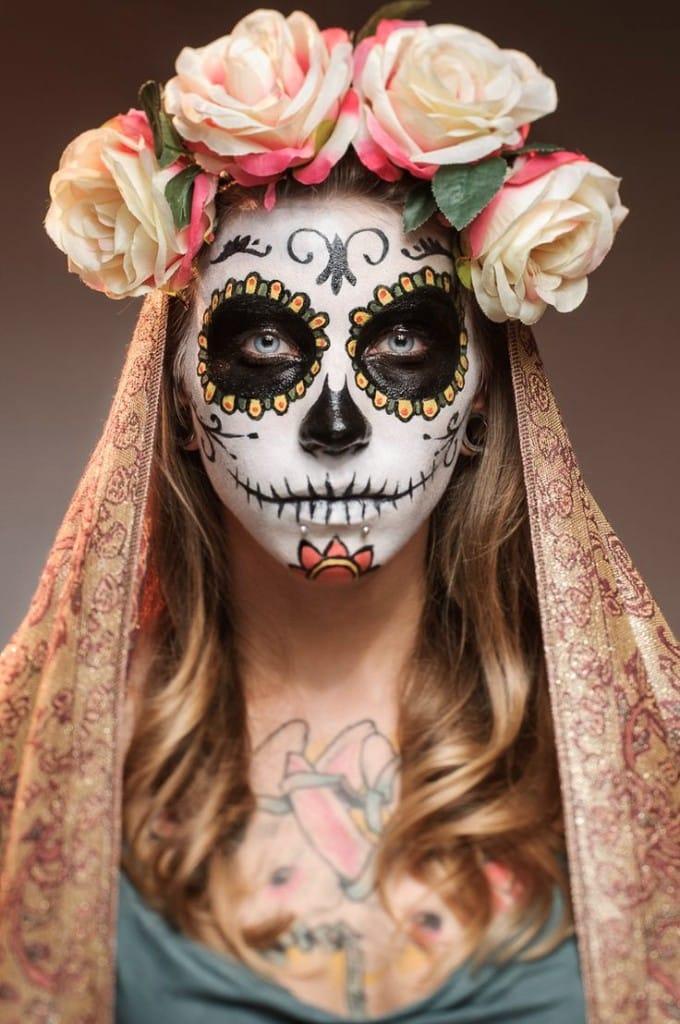 21 Ideas De Maquillaje De Catrina Con Disfraz Y Peinados