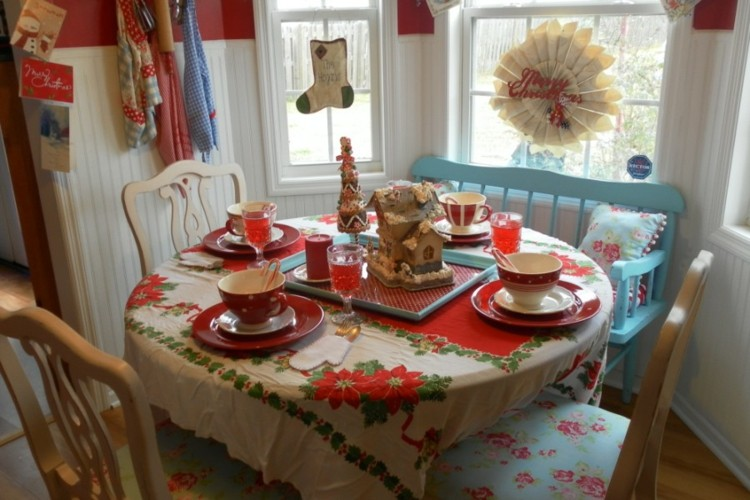 cocinas-navidad-elegante-madera-mesas