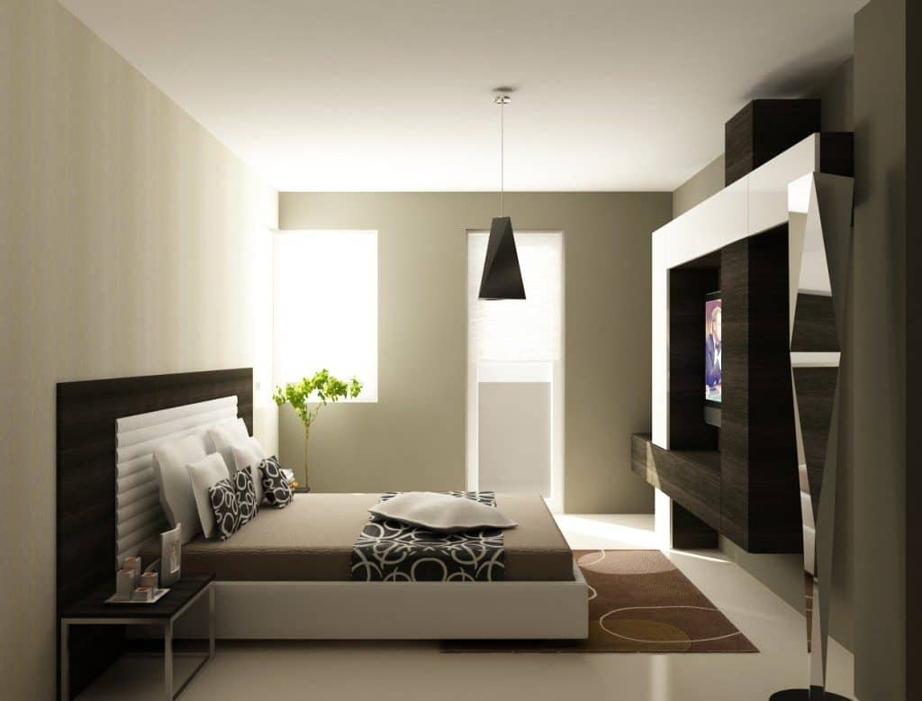 50 dise os que har n motivarte para decorar tu cuarto for Mueble tv habitacion