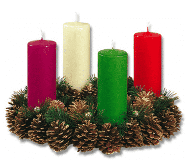 Corona de adviento con el significado de los colores de sus velas - Velas adviento ...