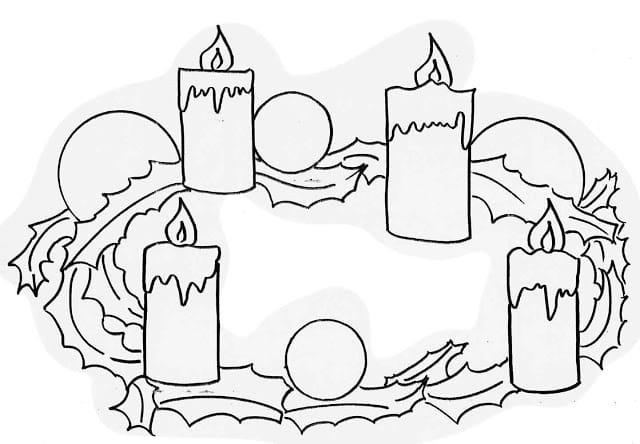 Corona de Adviento con el Significado de los Colores de sus Velas