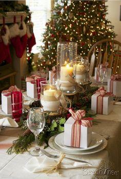 32 ideas de mesas navide as para decorar en navidad - Las mejores decoraciones de casas ...