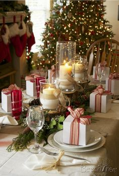 decoracion mesas navideñas