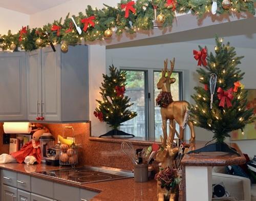 decoracion navidena cocina 2014 adornos naturales - Decoracion Navidea