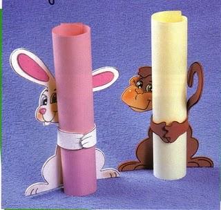 dia del padre regalo tubo carton animales