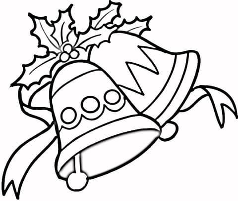 dibujos de navidad con campanas