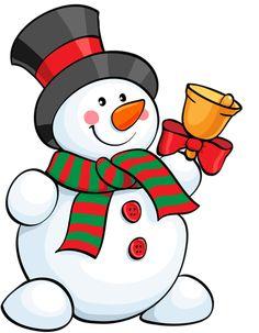 dibujos de navidad con color muneco nieve