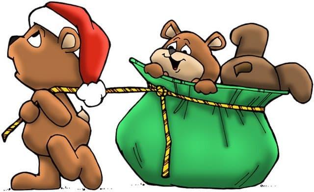 dibujos de navidad con color osos navidenos