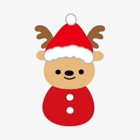 dibujos de navidad con color reno minimalista