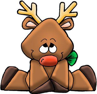 dibujos de navidad con color reno