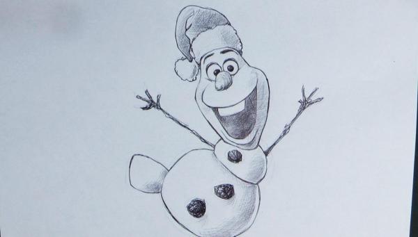 dibujos de navidad olaf