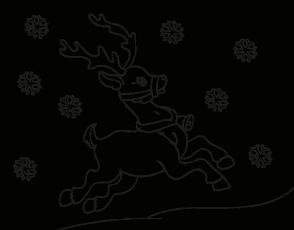 dibujos de navidad renos volando