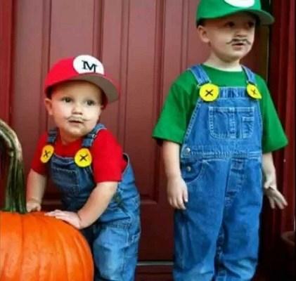 disfraces halloween caseros niños mario bros