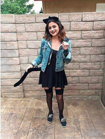 disfraz casero halloween mujer gato