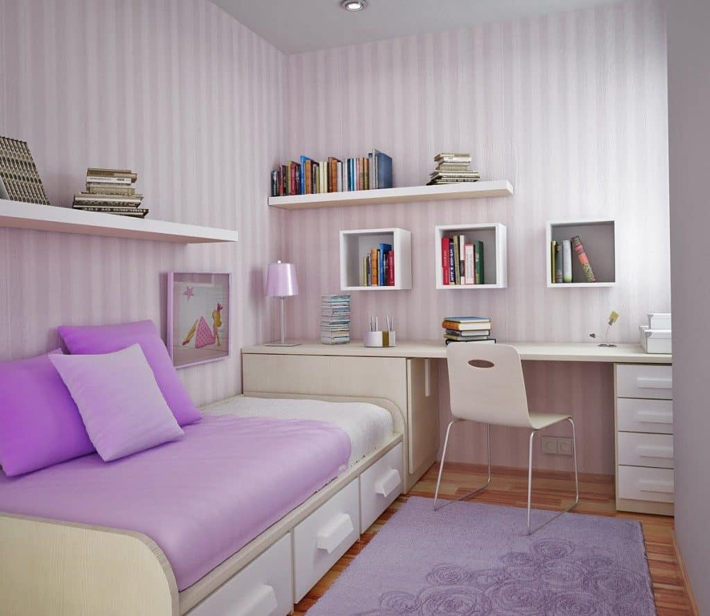 decorar una habitacin femenina donde los colores pasteles y violeta son con toques de blanco y with ideas para decorar una habitacion juvenil femenina with