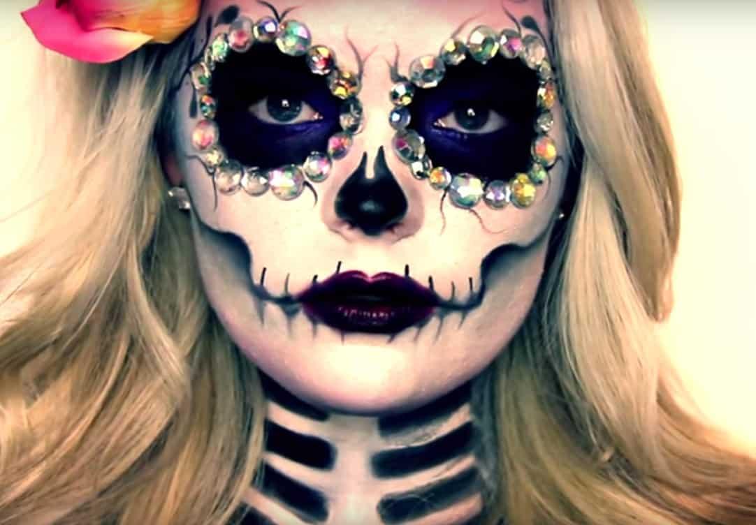 disfraz de catrina maquillaje