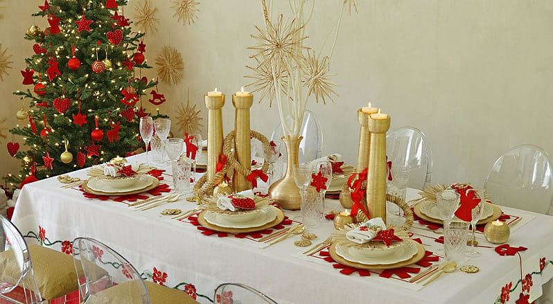 32 ideas de mesas navide as para decorar en navidad - Ideas de decoracion de navidad ...