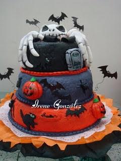 torta murcielagos halloween