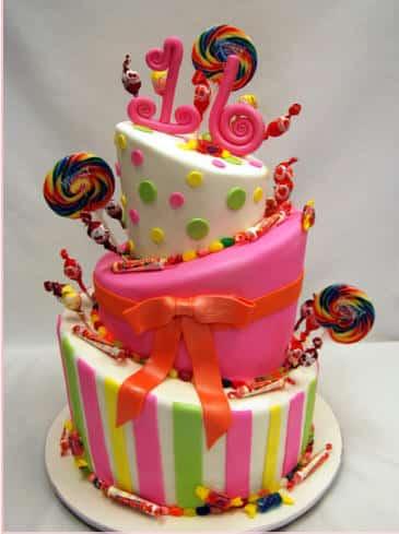 torta para cumpleaos de aos o bien donde los colores las formas irregulares y lo llamativo es lo original como bien divertido de este