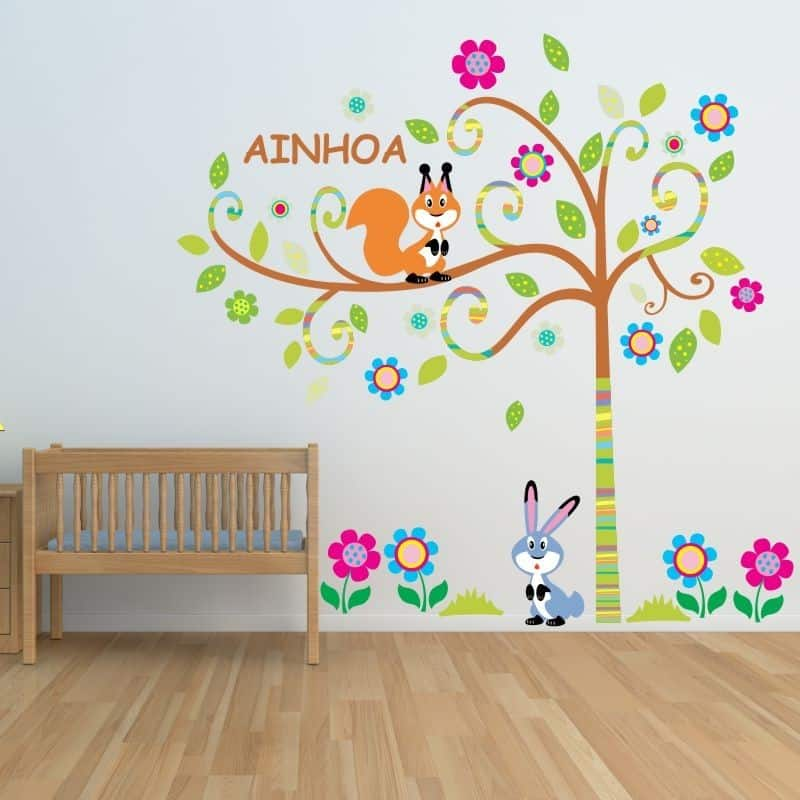 Vinilos infantiles decorativos para pared increibles for Vinilo arbol infantil