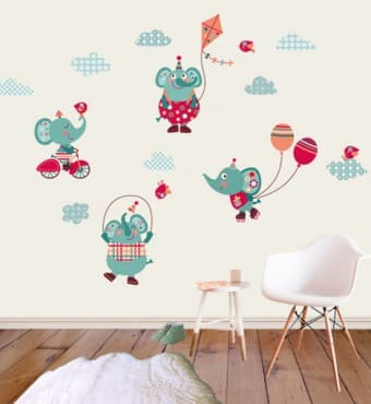Vinilos infantiles decorativos para pared increibles Vinilos de pared infantiles