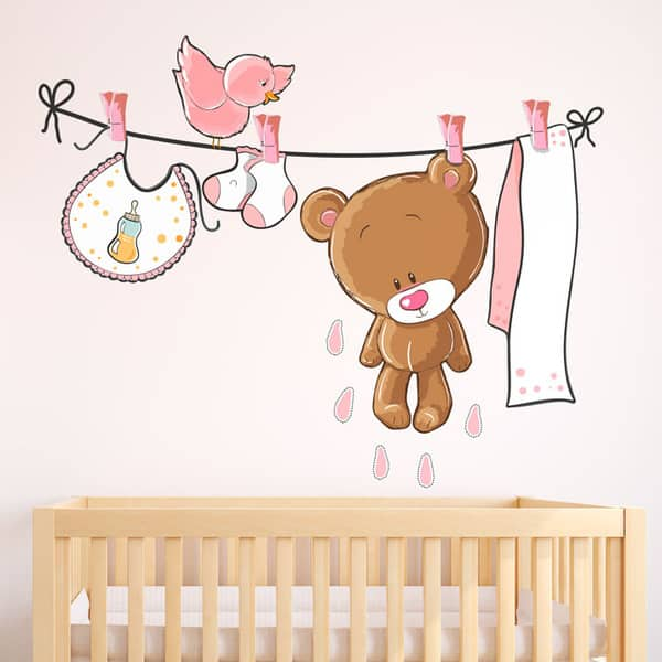 Vinilos infantiles decorativos para pared increibles for Vinilos de bebe nina