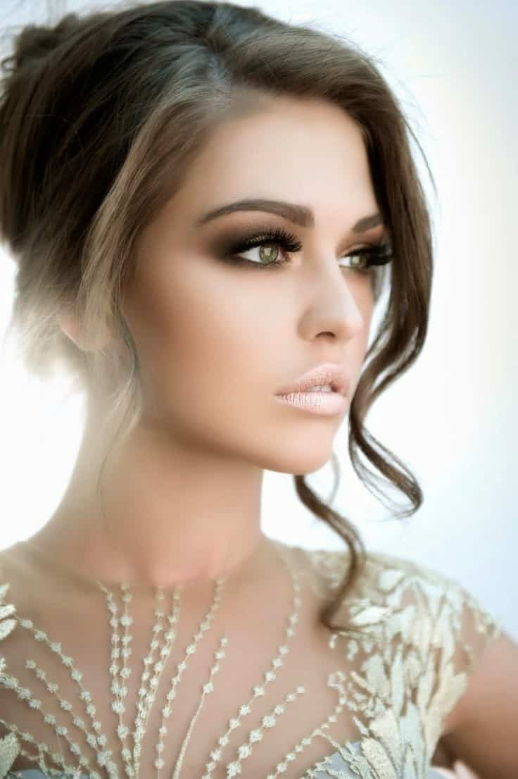 Beautiful Wedding Makeup Pictures : Peinados 2017: tendencias para novias y nuevos cortes de ...