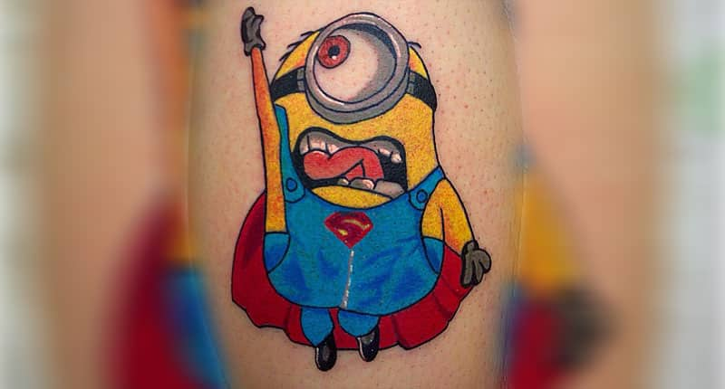 Minions-superman-tatuaje