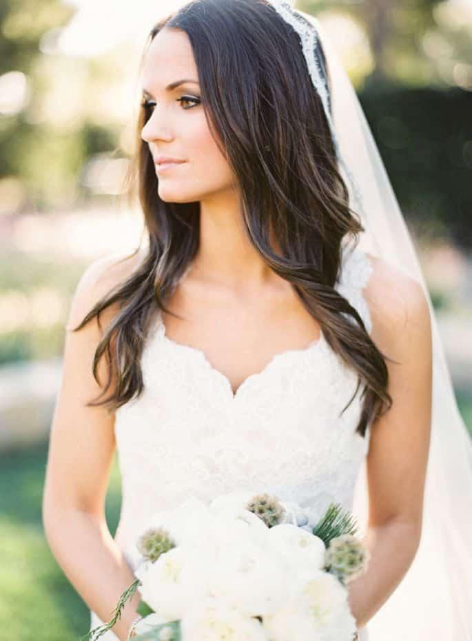 Peinados para novia cabello suelto lacio