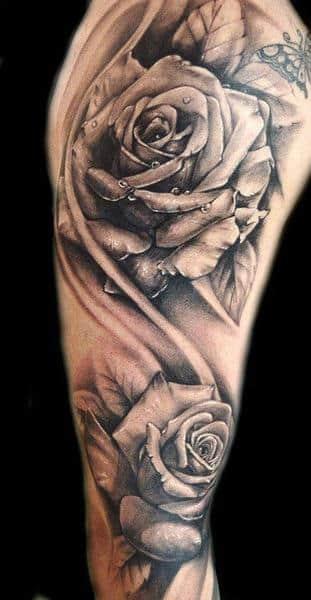 tatuajes de rosas para mujeres en el brazo